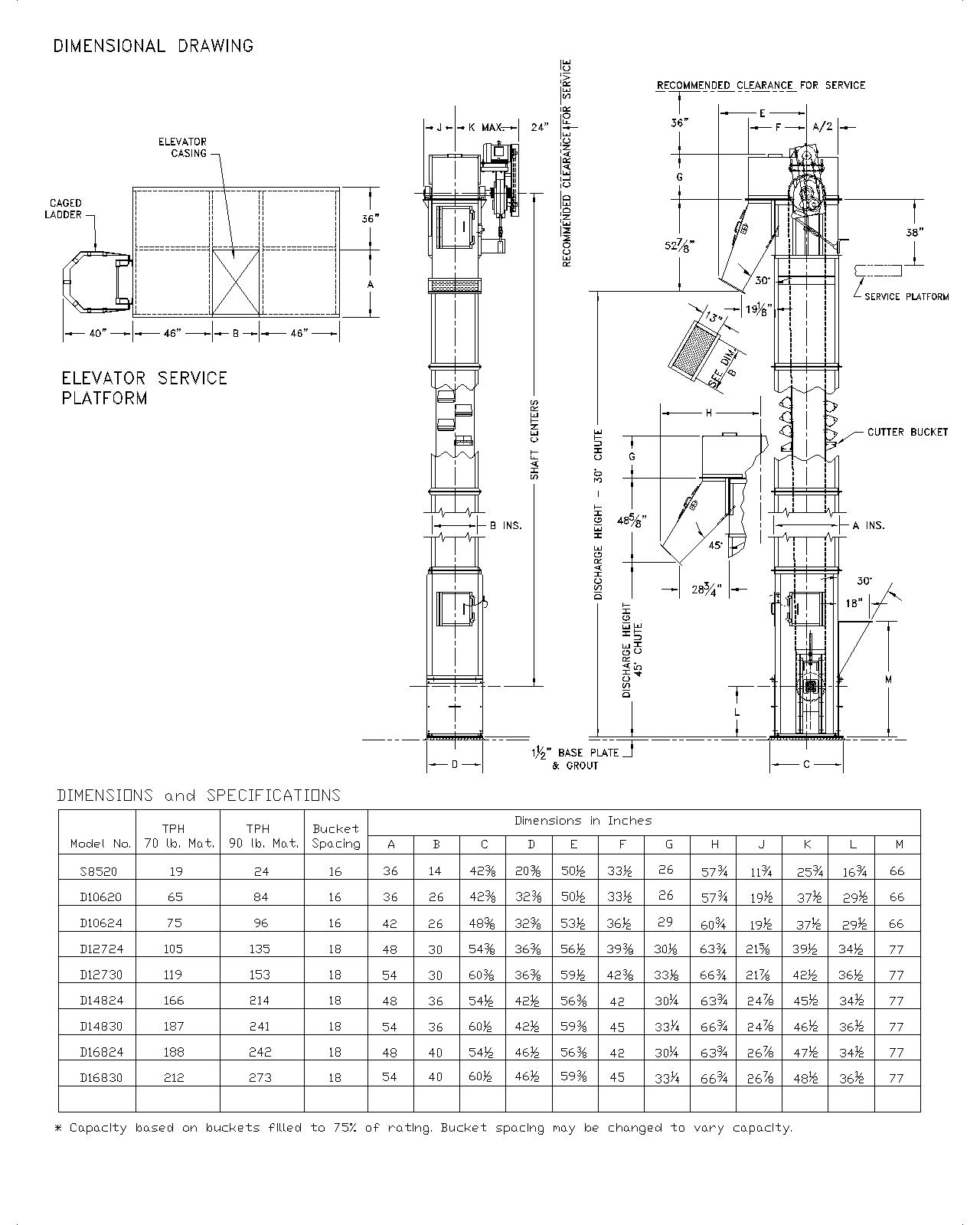 single bucket elevator  u2022 states engineering