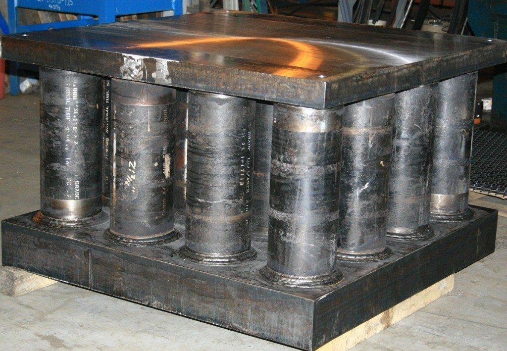 States Engineering Custom fabricated weldment – bolster plate