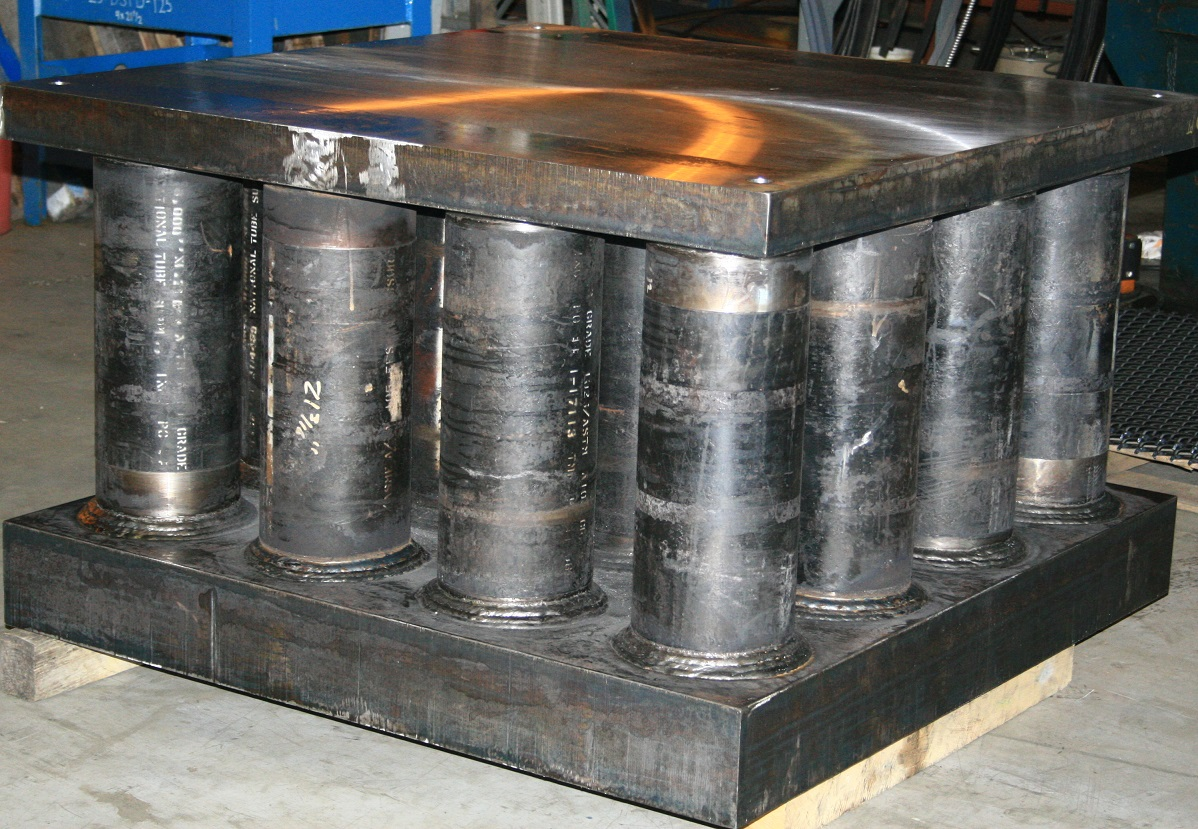 States Engineering Custom fabricated weldment - bolster plate